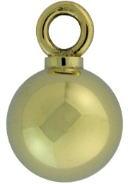 Assieraad ashanger bolletje goud