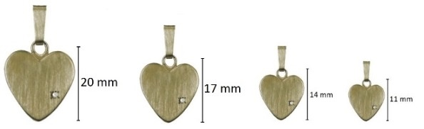 assieraad hart steentje goud-ashanger