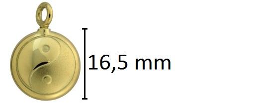 ying yang assieraad goud ashanger
