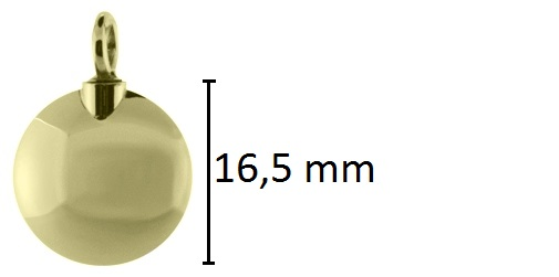 cirkel assieraad goud ashanger