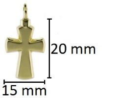 ashanger kruisje goud gedenksieraad