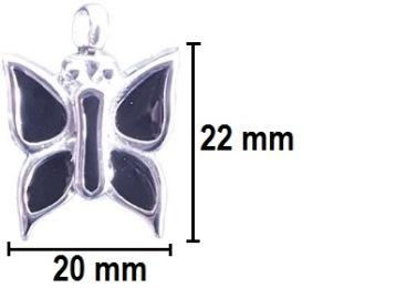 ashanger vlinder zwart gedenksieraad