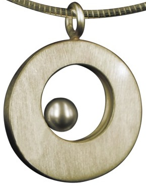 assieraad cirkel met parel ashanger
