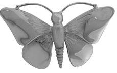 assieraad vlinder ashanger zilver