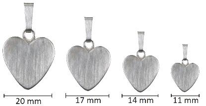 hart ashanger gedenksieraad zilver