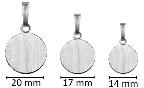 ashanger rond gedenksieraad zilver