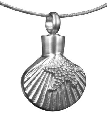 gedenksieraad assieraad schelp ashanger