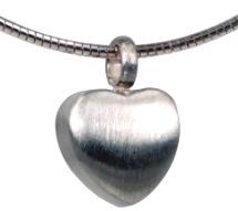 gedenksieraad zilver hart ashanger